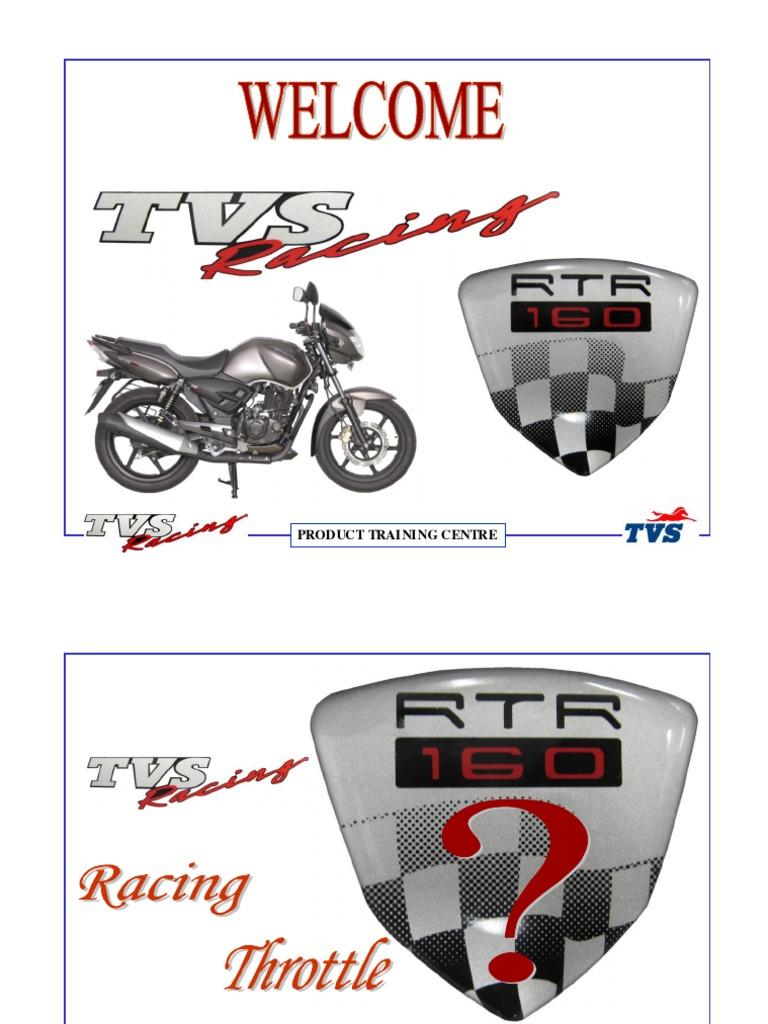 RTR 160 Service Manual | Carburetor | Transmission (Mechanics)
