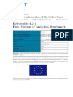 D4.2.1 First Version of the Data Analytics Benchmark