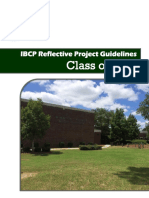 reflective project ibcp guidelines update class of 2019