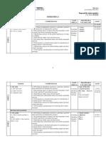 Clasa 0 - Planificare Calendaristica 2017-2018