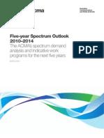 Five-year Spectrum Outlook 2010–2014