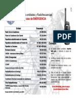 Guía de Frecuencias de Radio en Caso de EMERGENCIA Junio 2016(2)
