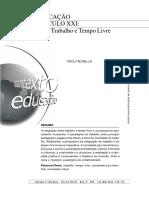 Educação Do Seculo Xxi_integrar Trabalho e Tempo Livre