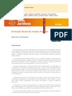 Função Social Da Justiça Federal - Capítulo I