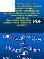 Differences in Mgt and Leadership