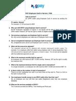 FAQ Employee Cash In