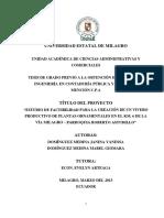 """""""Estudio de factibilidad para la creación de un vivero productivo de plantas ornamentales en el km. 6 de la vía Milagro – parroquia Roberto Astudillo"""".pdf"""