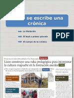 PPT de cómo hacer una Crónica