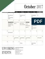 October Calendar 2017
