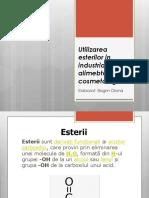 Utilizarea esterilor in industria alimebtara si cosmetologica.pptx