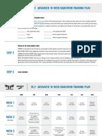 Marathon Advanced Training Plan- Miles