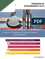 Brochure 2016-Entrenamiento OPOGC