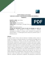 2017 Clínica d Ela Familia. La Construcción Saludable Del Desarrollo Progresivo
