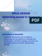 12 - Drug Design - Optimising Access to the Target