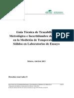 Guía EMA. ENSAYOS Temperatura Solidos