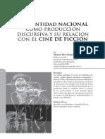 Manuel Silva-La Identidad Nacional Como Producción Discursiva y Su Relación Con El Cine de Ficción