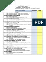 Pragmatic Skills Checklist