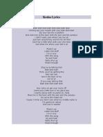 Kesha Feat. 3OH!3- Blah Blah Blah (Lyrics)