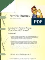 Feminist Therapy - Jamie V Canauay MA-Psych.pptx