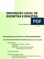 Disposio Local de Excretas e Esgotos - Professor Ccero L.