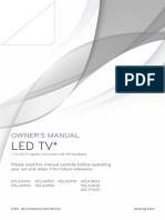 OWNER'S MANUAL LG LED TV  47LA6950 55LA6950 47LA7400 55LA7400 60LA740047LA6900 55LA6900 55LA6970