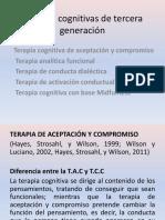 Terapias Cognitivas de Tercera Generación