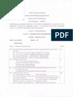 STC Professional Exam Paper 2012