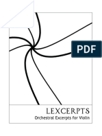 Lexcerpts - Orchestral Excerpts for Violin v2.1(US)
