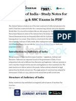 Judiciary of India Study Notes for Banking SSC Exams in PDF
