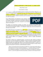 2.1.1-Relaciones y Aportaciones de La Psicología a La Educación