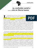 Gobierno, Exclusión Social y Conflicto en Sierra Leona