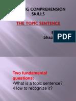 Topic Sentence Presentation