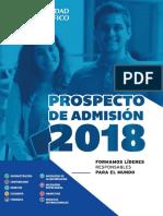 UP Prospecto de Admisión 2018