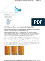 The Effects of Glycol Contamination in Engine Oils (Machinery Lubrication India)