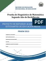Prueba de diagnóstico de Matemática  Segundo Año de Bachillerato - 2013.pdf