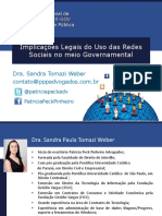 Implicações Legais Do Uso Das Redes Sociais No Meio Governamental