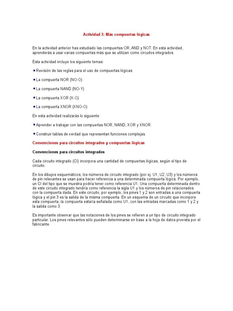 Circuito Xnor : 52021030 mas compuertas logicas