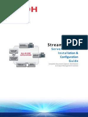 RICOH Streamline NX Install & Config Guide | Hyper V | Share