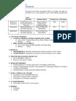 Chandra Bhusan Resume