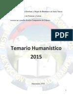 Temario Humanístico  - 2015