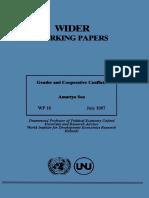 Amartya Sen__Gender and Cooperative Conflict