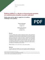 Políticas Públicas e o Direito Ao Fornecimento Gratuito