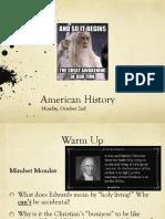 mon oct 2 american history