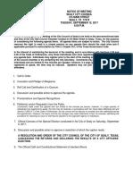 September 12, 2017 - City Council Meeting Agenda