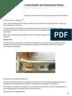 Causas Para Perda de Comunicação Nas Impressoras Fiscais