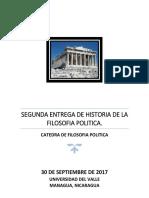 Segunda Entrega de Fiosofia Politica 2017.
