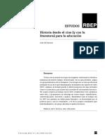Del Alcàzar, Joan (2012) Historia desde el cine [y con la literatura] para la educación, en Revista Brasileira de Estudos Pedagógicos. v. 93, n. 235, p. 645-666, set.dez.pdf
