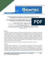 Análise Comparativa Da Aplicação de Sistemas de Gestão de Segurança Em Empresa Da Indústria Automotiva