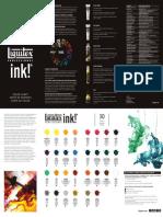 Liquitex Color Chart Ink Leaflet - LR.