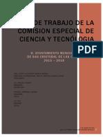Plan de Trabajo de La Comision Especial de Ciencia y Tecnologia